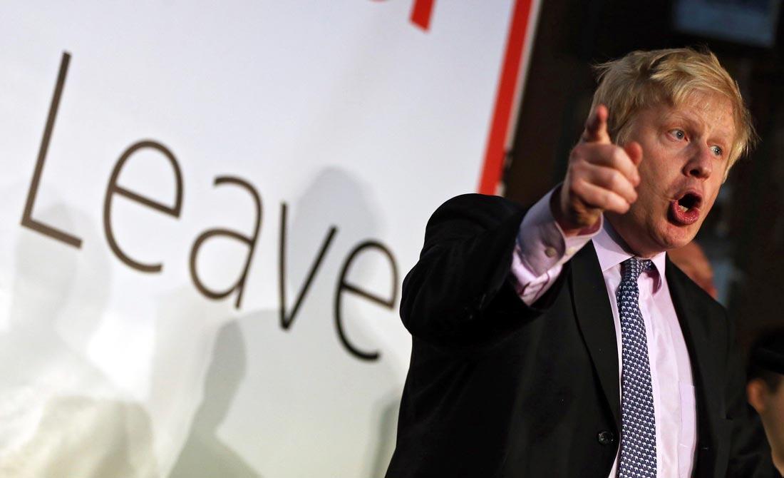 Abril de 2016. Boris Johnson durante la campaña pro Brexit.