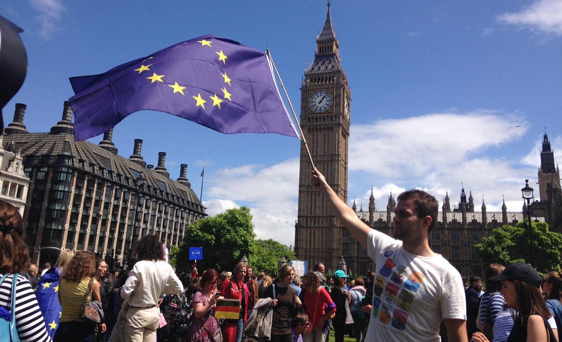 Julio de 2016. Protesta en Londres por la salida de Reino Unido de la UE.