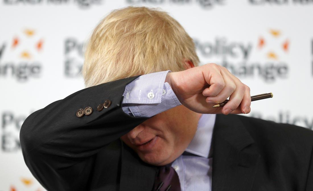 Febrero de 2018. El ex ministro de Exteriores, Boris Johnson, en una conferencia sobre el Brexit.