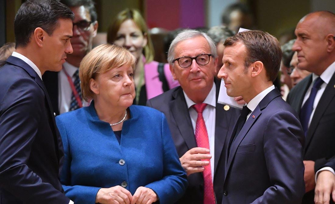 Octubre de 2018. Encuentro informal de los líderes europeos en una cumbre en Bruselas.
