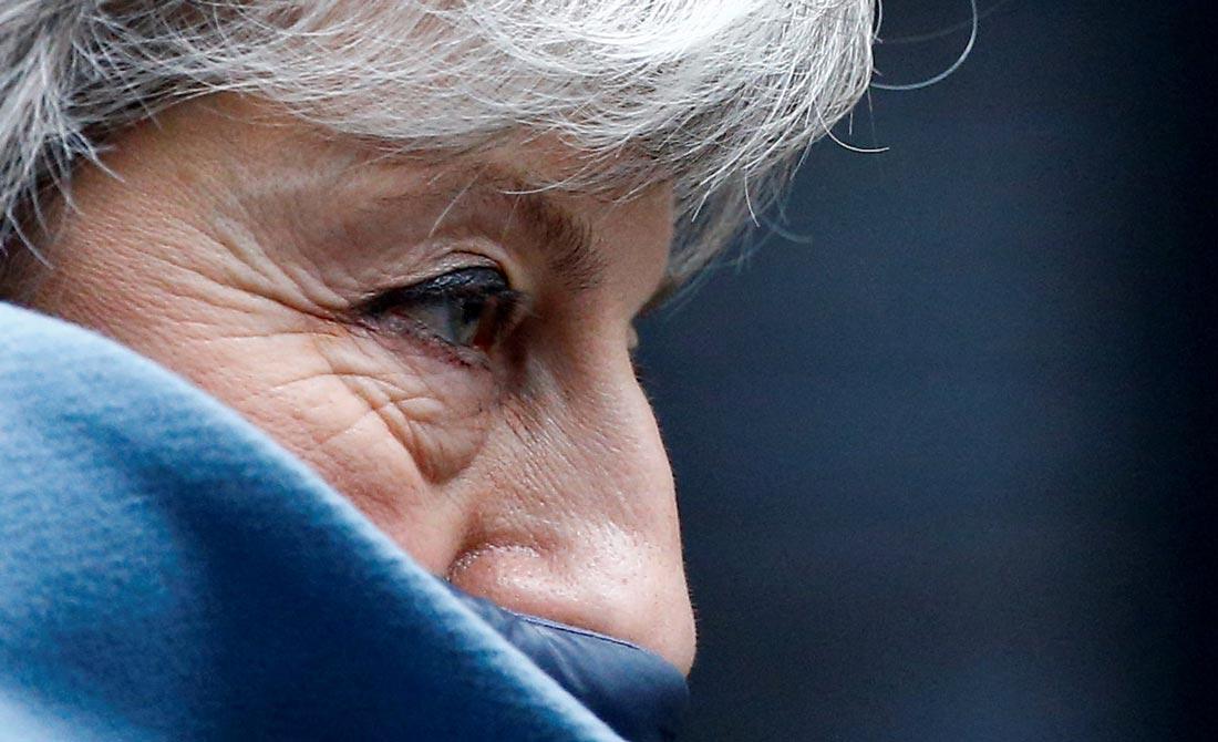 Marzo de 2019. La primera ministra británica antes de afrontar otra votación fallida.