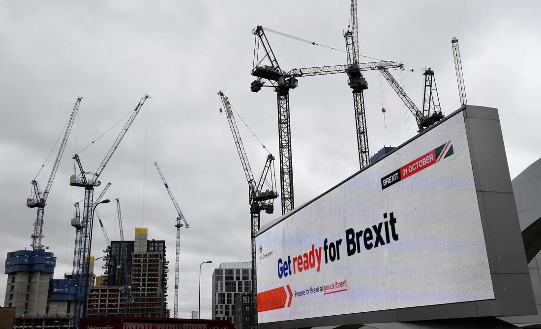 Septiembre de 2019. Publicidad exterior del Gobierno para que los británicos se preparen para el Brexit.