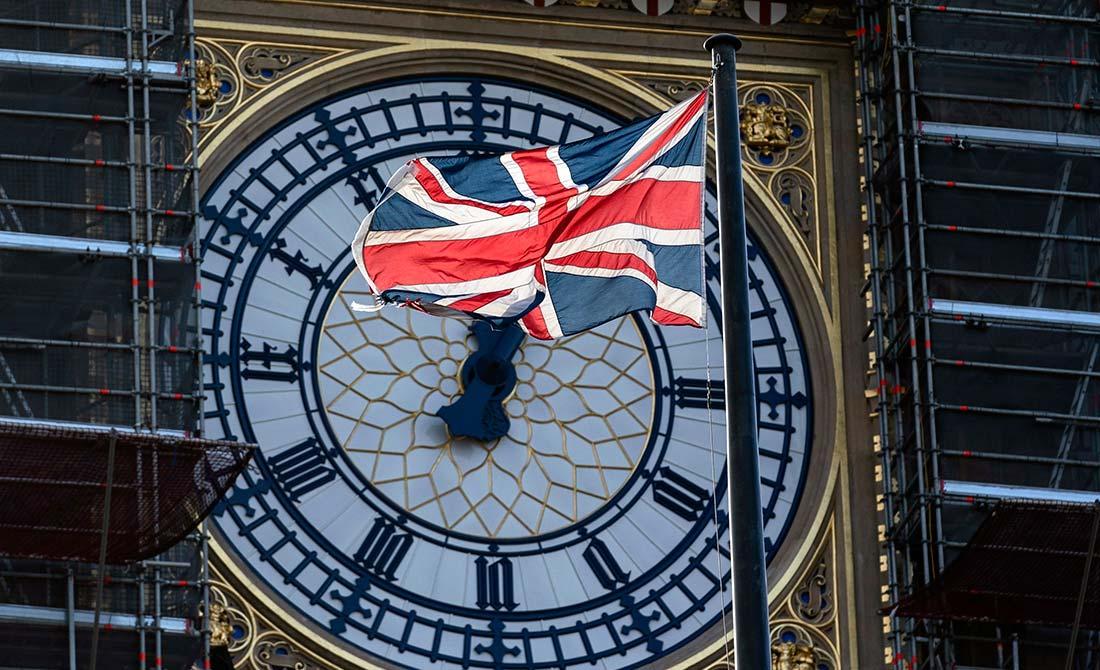 Enero de 2020. El Big Ben, símbolo de Reino Unido, contempla en obras la salida del país de la UE.