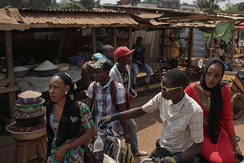 Mercado del barrio musulmán de Bangui