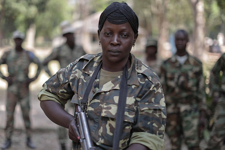 Salma, una soldado de las fuerzas armadas centroafricanas