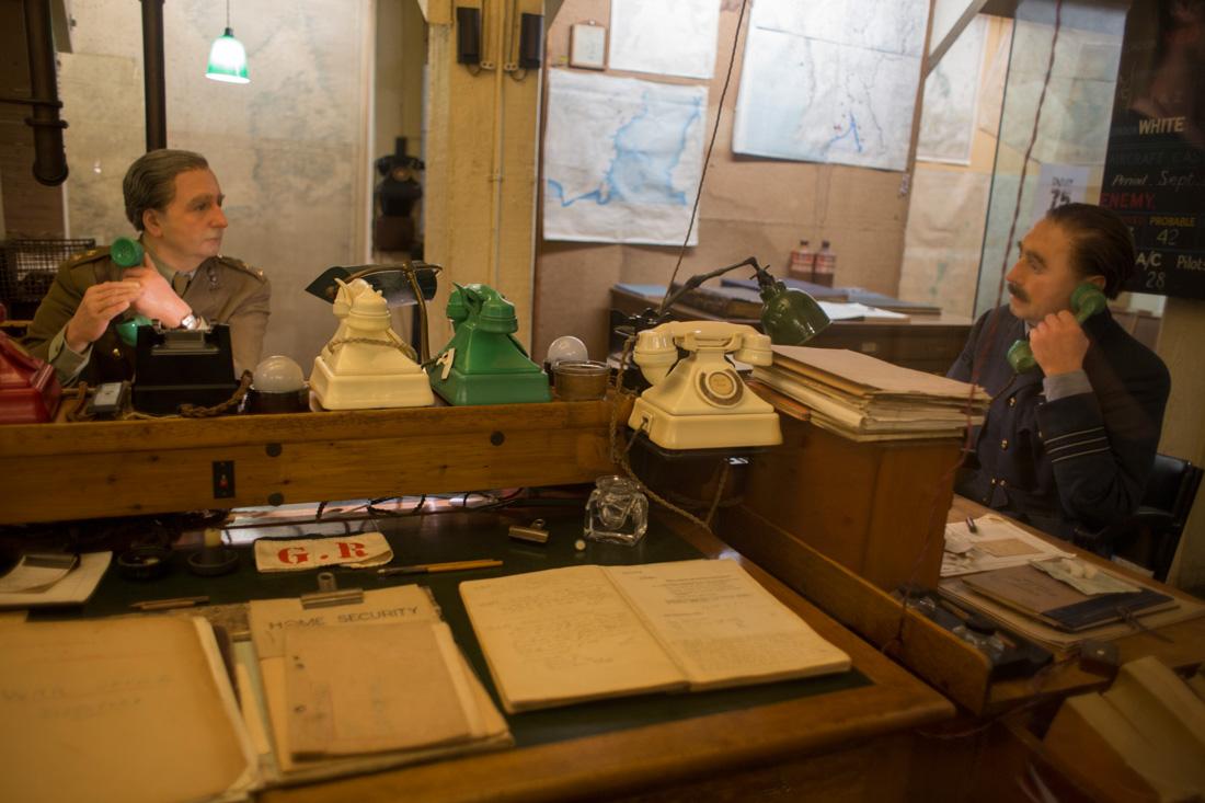 Interior del búnker de Winston Churchill en Whitehall