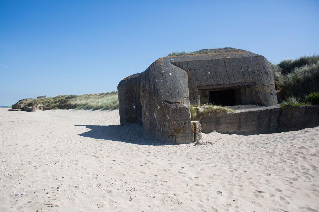Fortificaciones alemanas en la playa de Utah