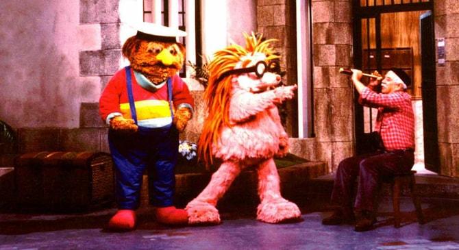 Espinete y Don Pimpón en el programa infantil 'Barrio Sesamo'