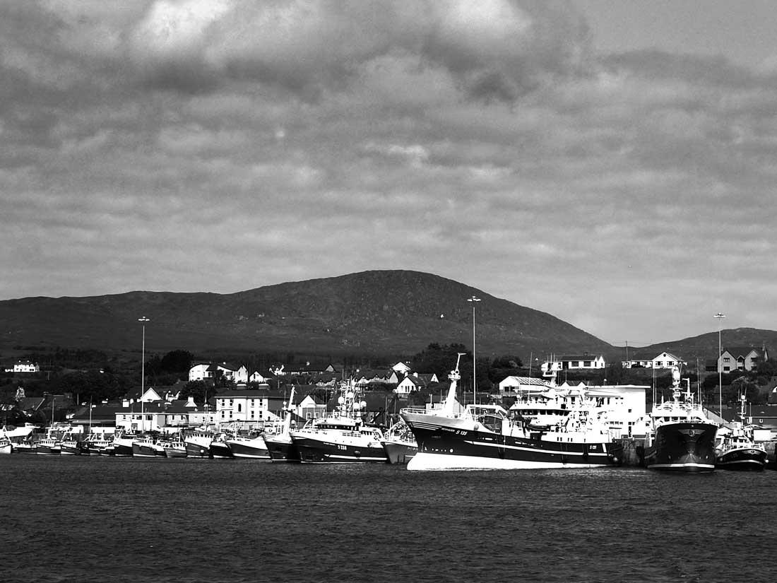Vista del puerto irlandés de Castletownbere