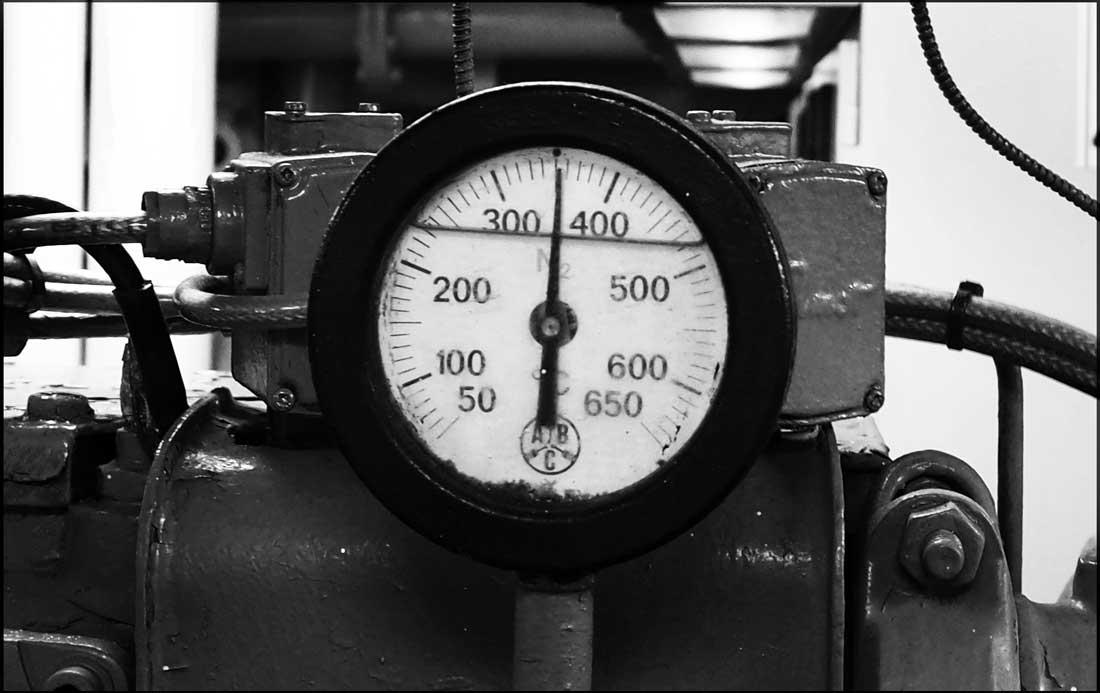 Una de las decenas de indicadores de presión