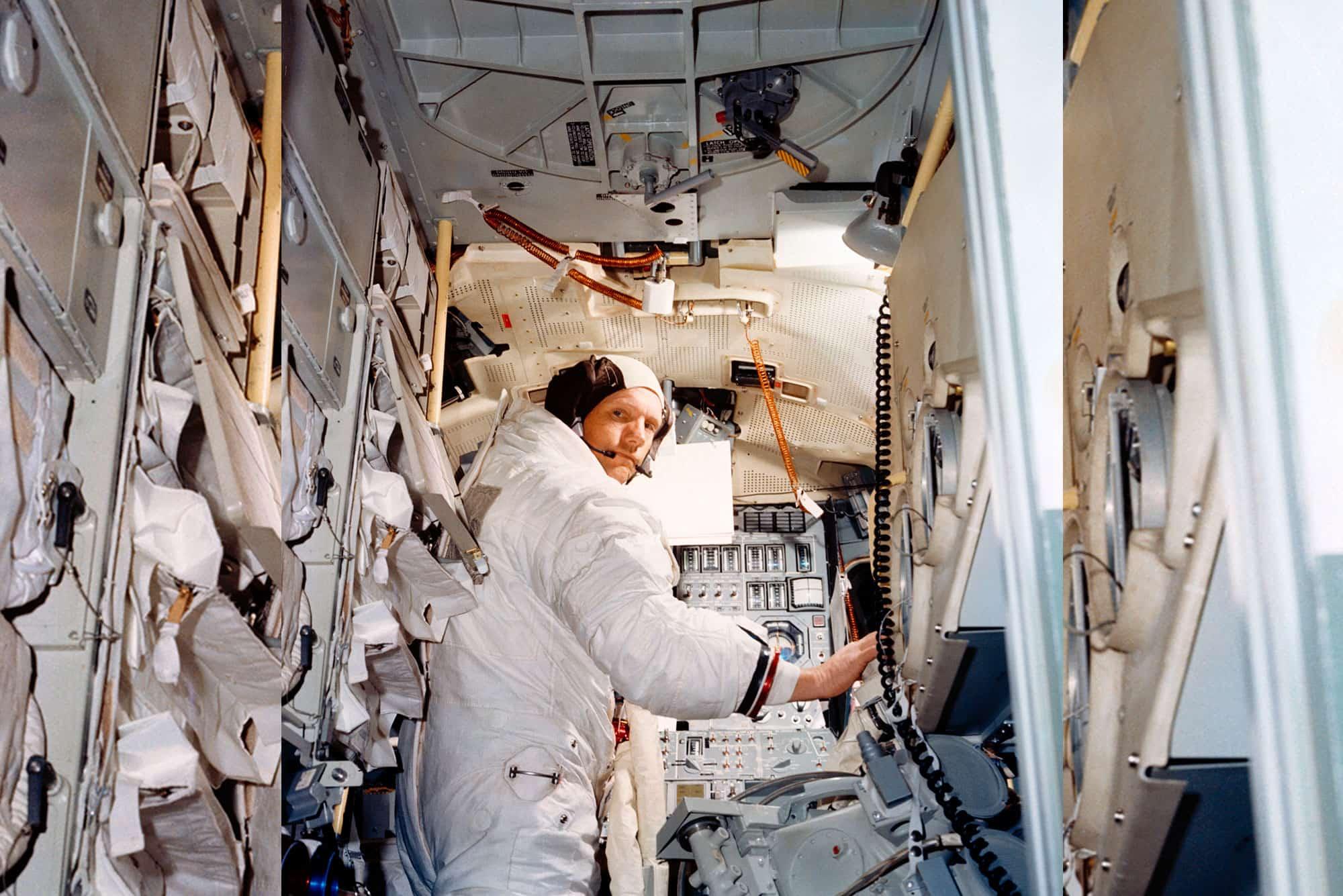 El comandante de Apolo 11,  Neil Armstrong