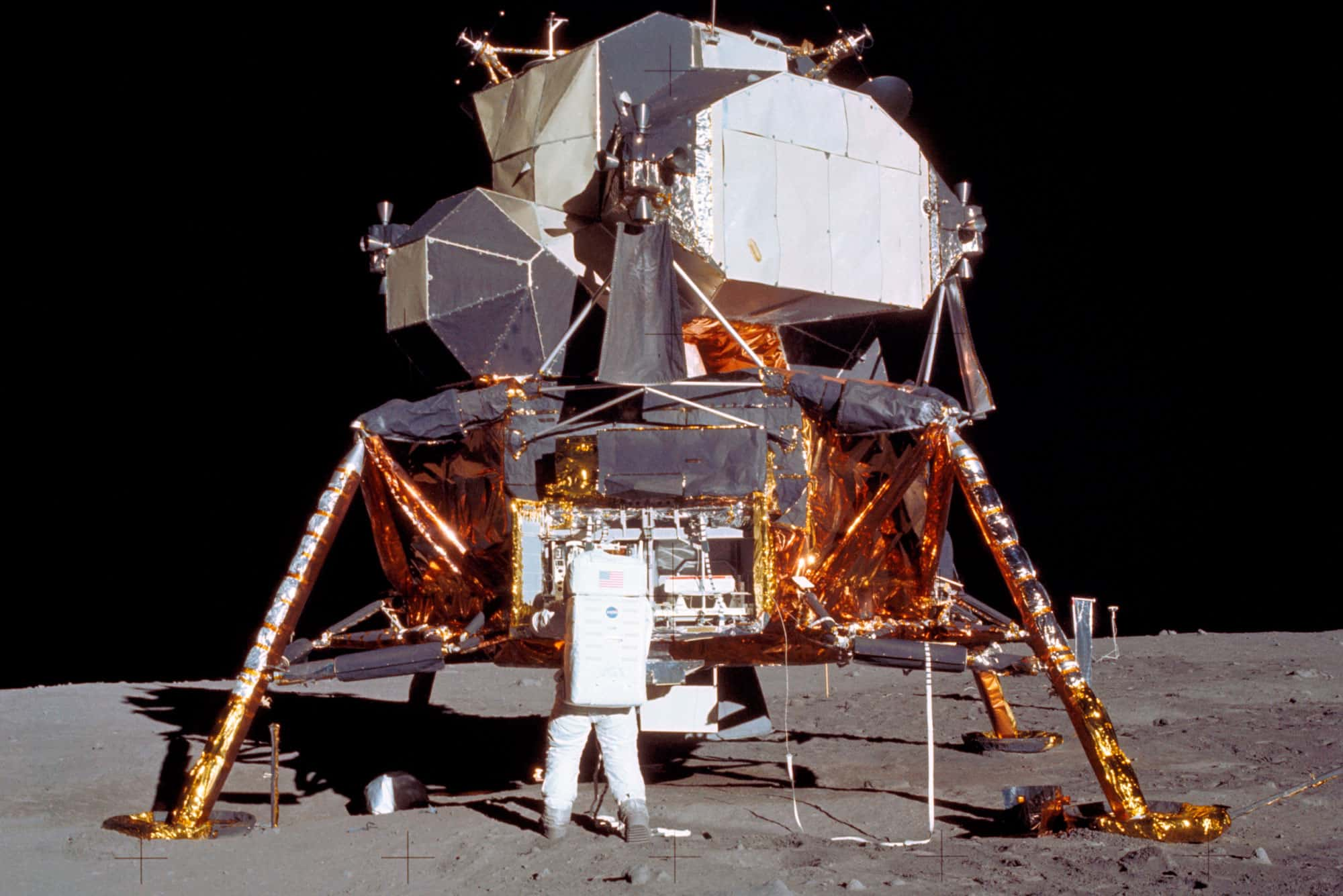 El astronauta Edwin E. Aldrin