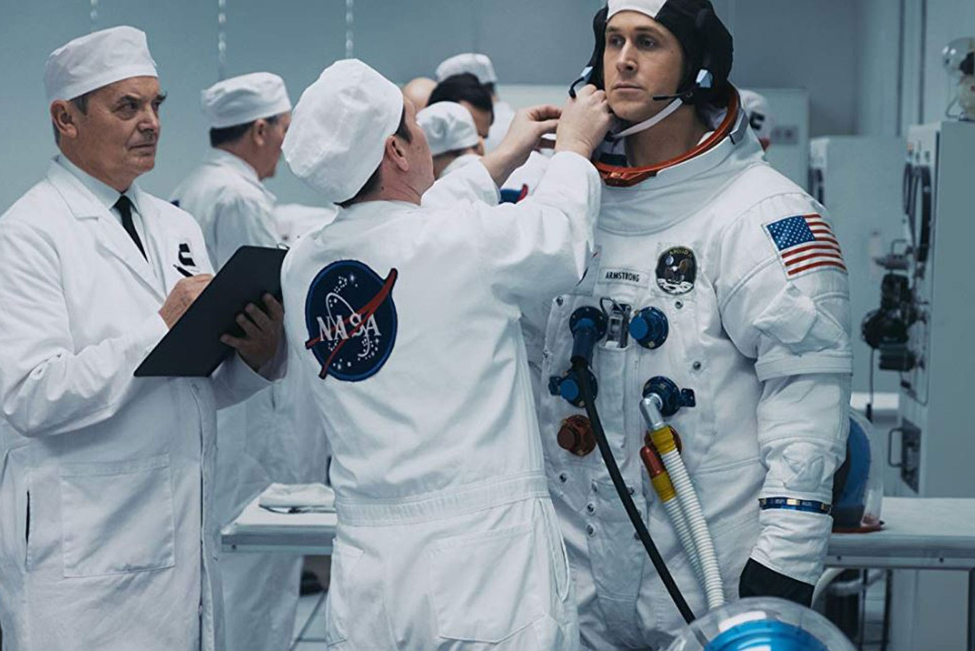 El actor Ryan Gosling en su papel de Neil Armstrong
