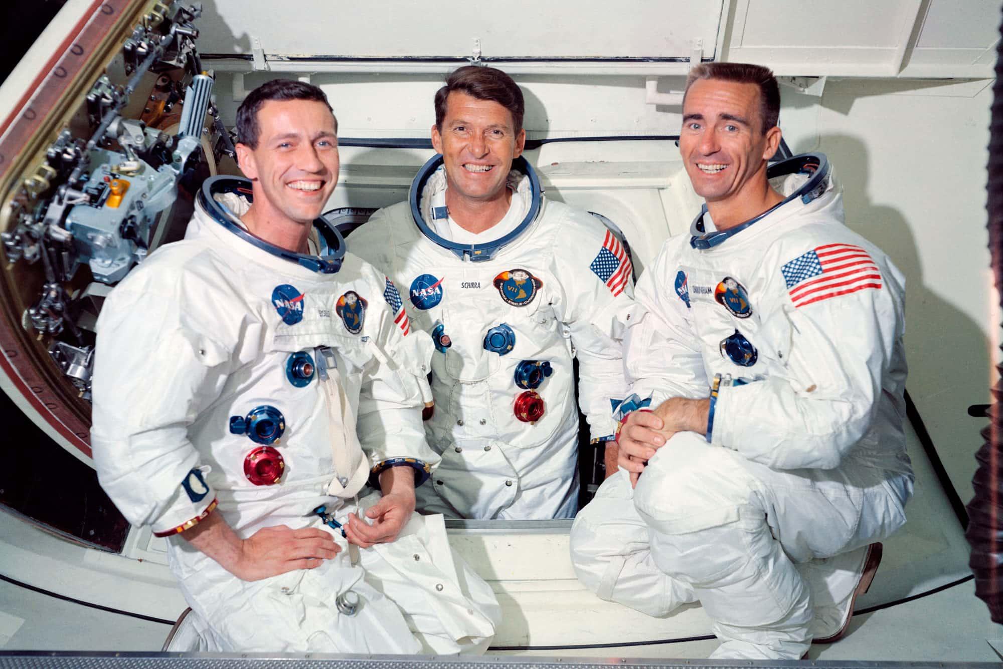 Una de las fotos oficiales de la misión Apolo 7