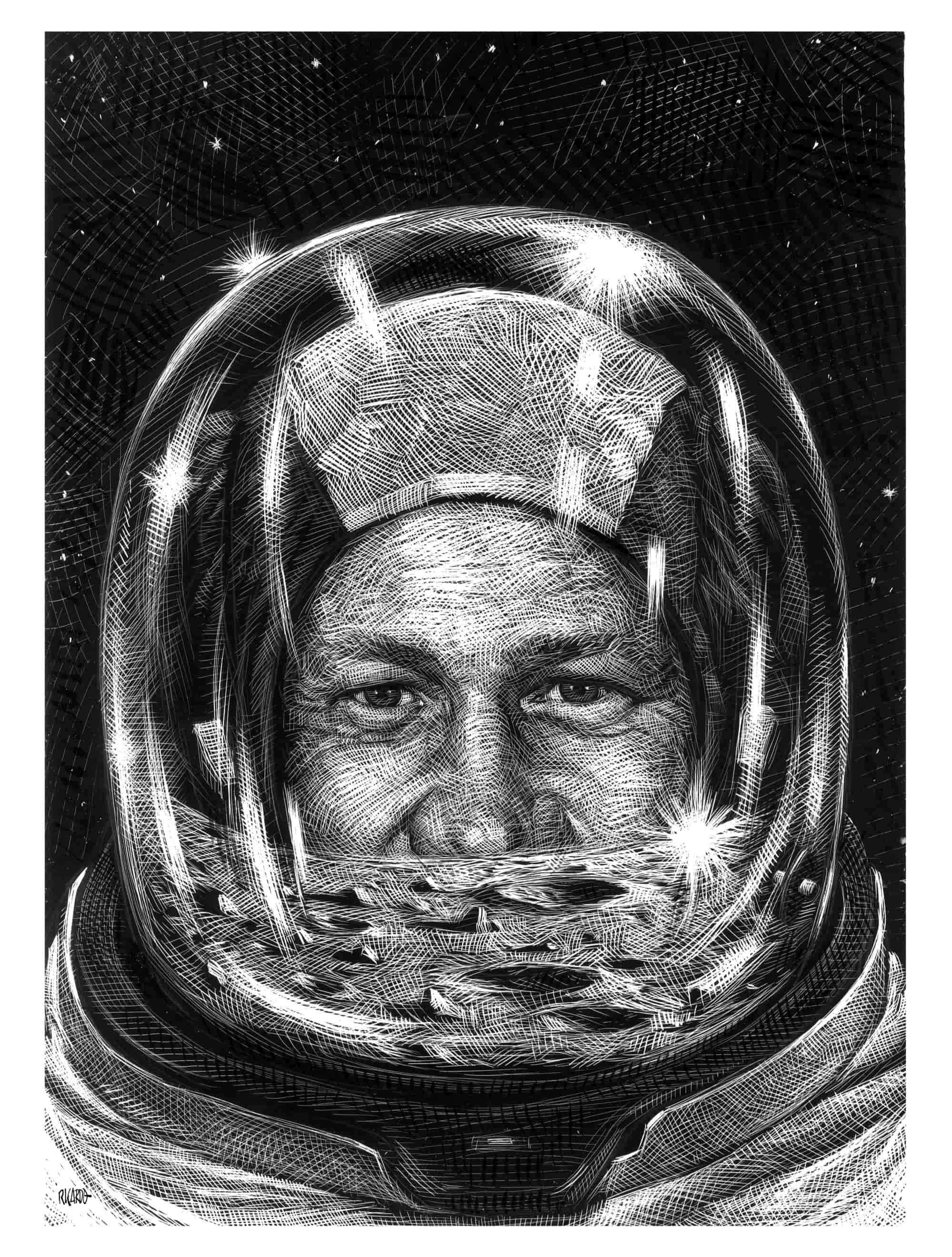Ilustración de Buzz Aldrin
