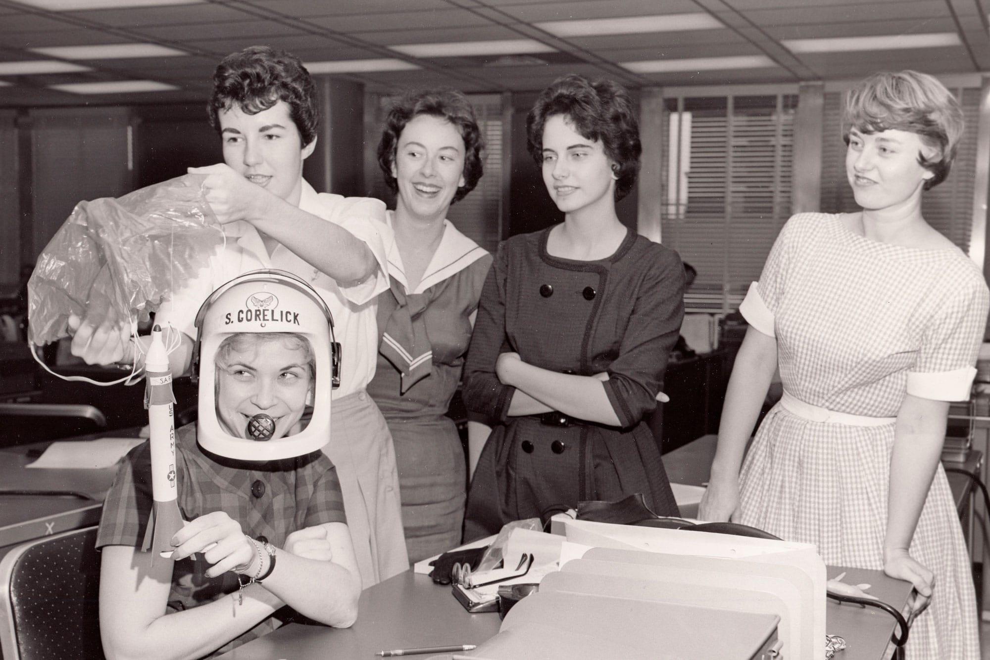 las Mercury 13 durante las pruebas del doctor Lovelace