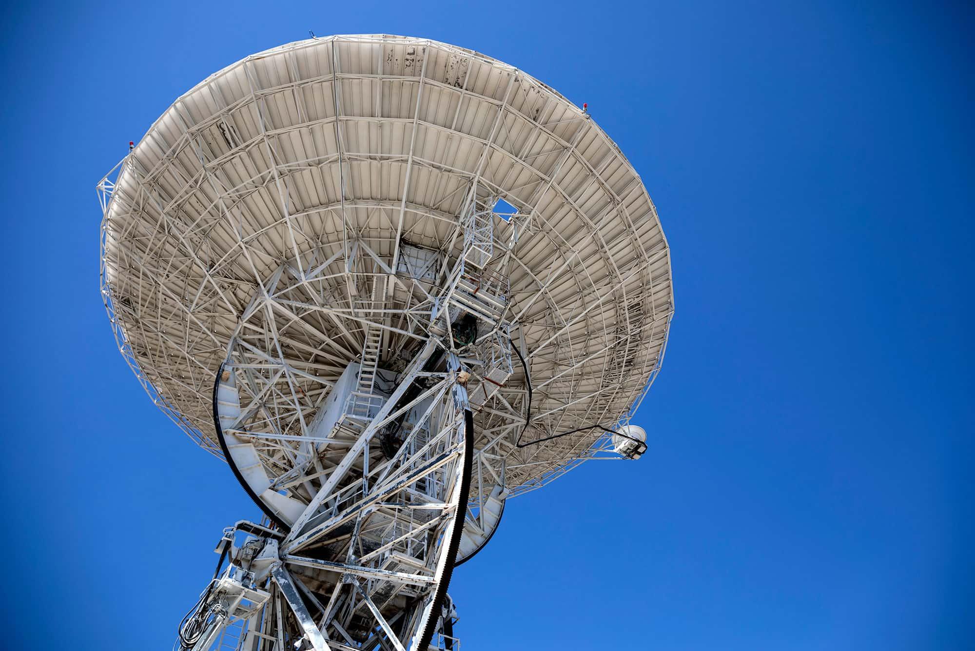 La antena que recibió las primeras transmisiones de la llegada del hombre a la Luna