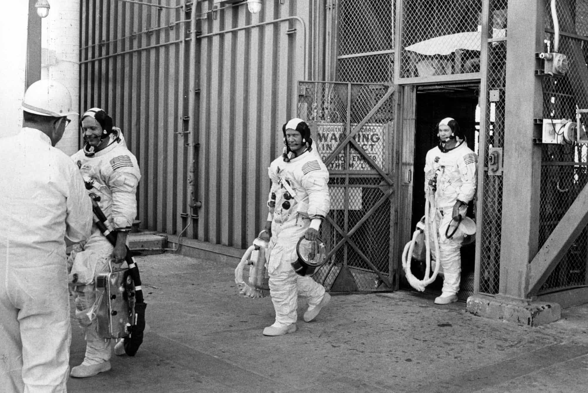 Los integrantes de la misión Apolo 11