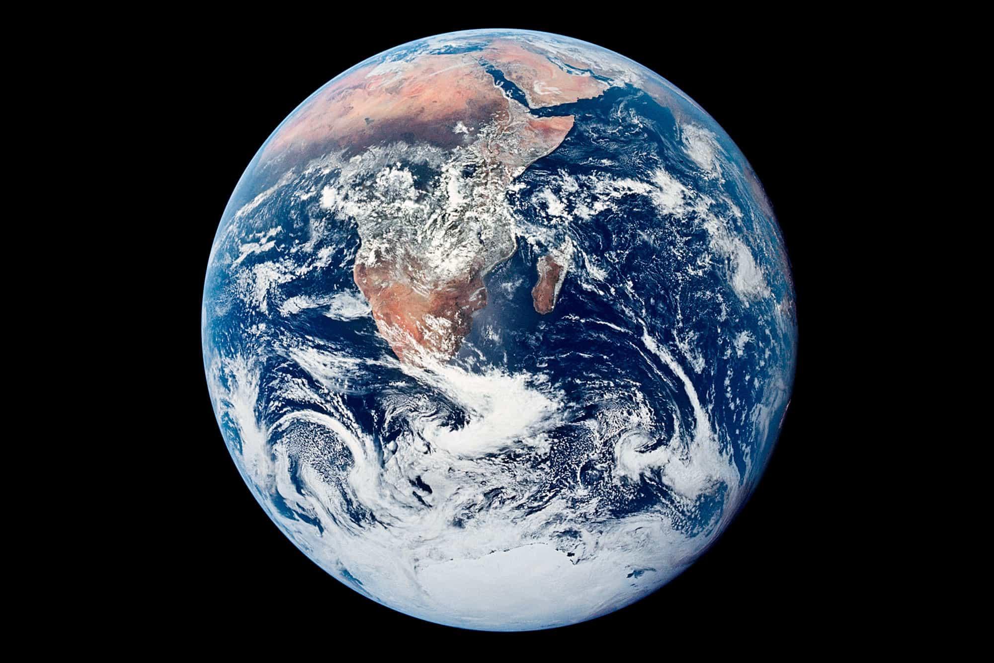 Imagen de la Tierra captada por el Apolo 17