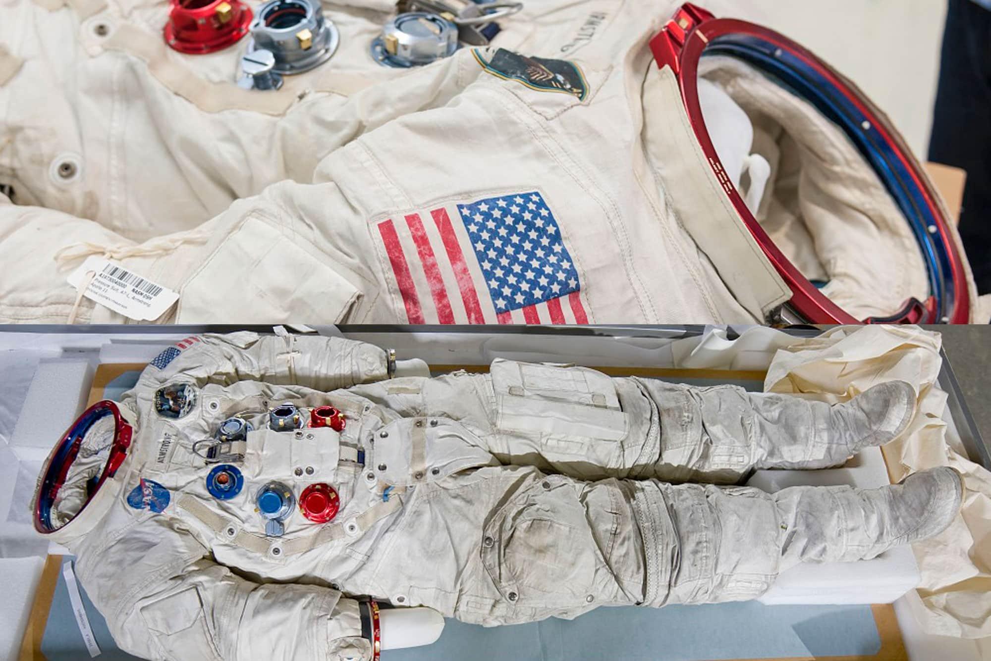 Traje espacial Neil Armstrong A7-L restaurado